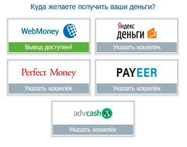 Способы выплаты денег SeoSprint