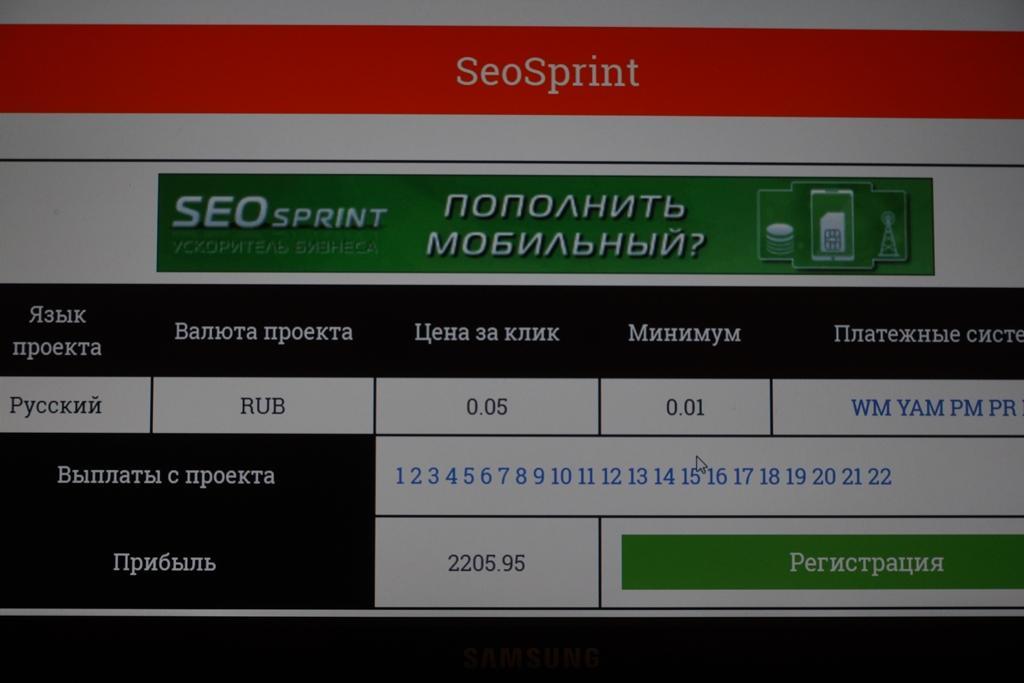 SeoSprint деньги в интернете